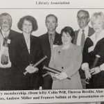 photograph of Colin Will, Theresa Breslin, Alan Reid, Liz Knowles, Andrew Miller, Frances Saline