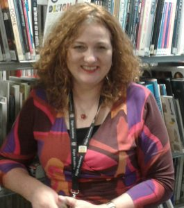 Image of Shelagh at her library