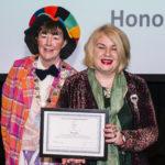 Cleo Jones receiving Honorary Membership award