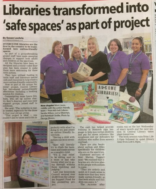 "a press article with the headline 'libraries transformed into ""safe spaces"" as part of project"