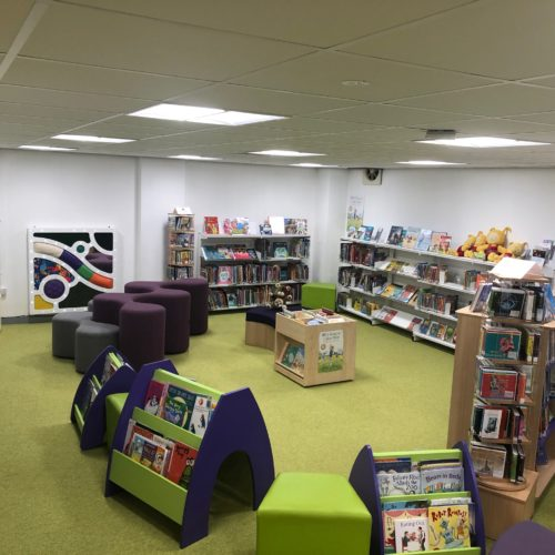 Aboyne Library children area sensory - Abdnshire