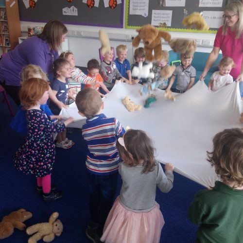 Alford Library - Bear Hunt Activity with Playgroup - Aberdeenshire