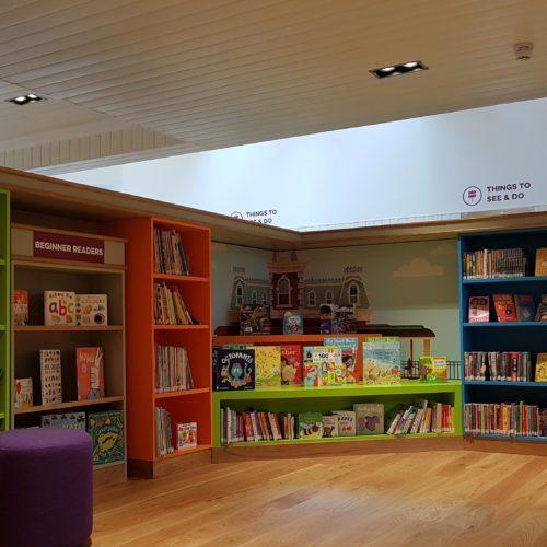 Ballater Library - Interior Childrens Area Train themed - Abdnshire