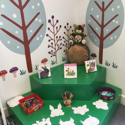 Inverurie Library children area crafts - Aberdeenshire